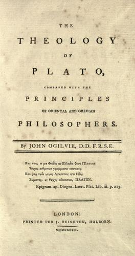 The theology of Plato