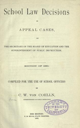 Download School law decisions in appeal cases