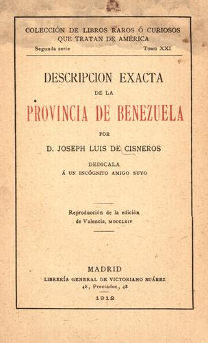 Download Descripción exacta de la provincia de Benezuela