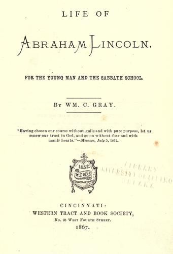 Life of Abraham Lincoln.