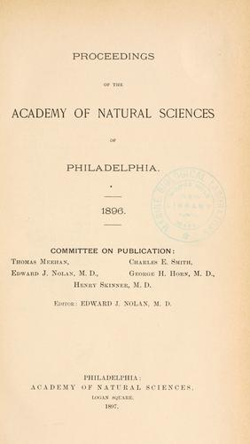 Download Proceedings of the Academy of Natural Sciences of Philadelphia, Volume 48