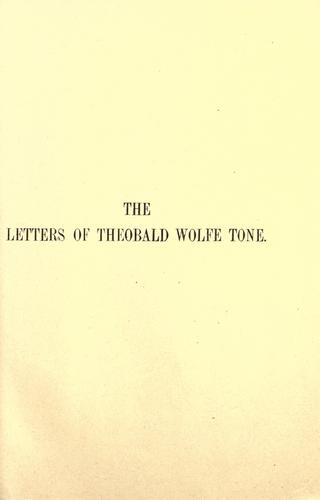 The letters of Wolfe Tone