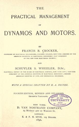 Download The  practical management of dynamos and motors