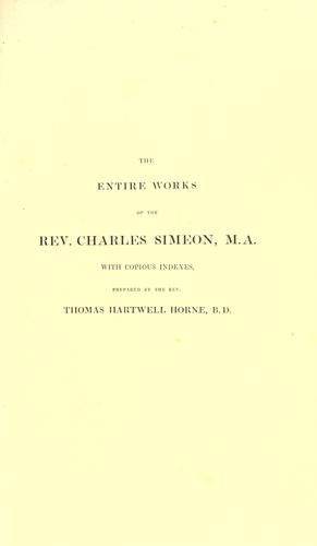The Entire Works of the Rev. C. Simeon