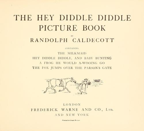 Download The Hey diddle diddle picture book.