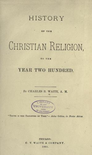 Download History of the Christian religion