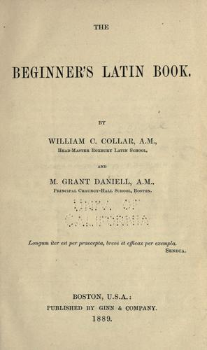Download The beginners' Latin book.