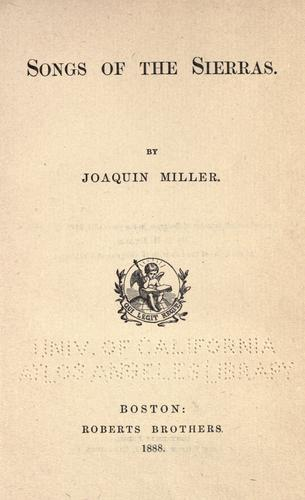 Download Songs of the Sierras.