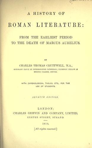 History of Roman literature