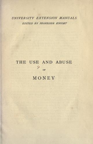 Download The use and abuse of money