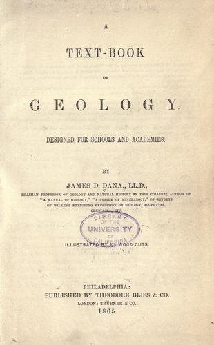 A text-book of geology.