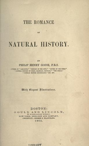 Download The romance of natural history.