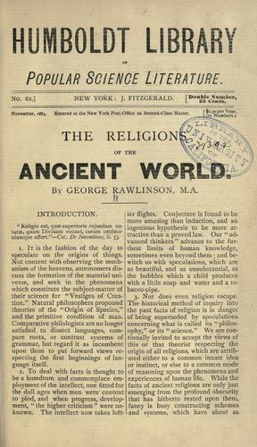 The religions of the ancient world.