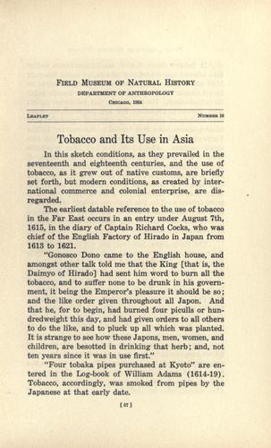 Download Tobacco and its use in Asia