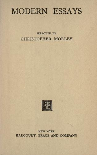 Download Modern essays.