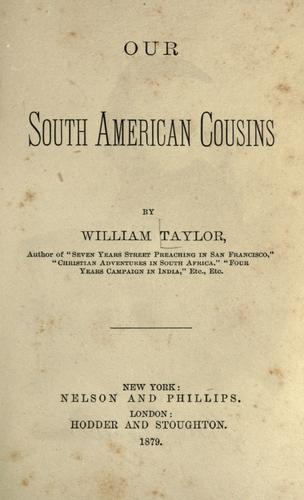 Download Our South American cousins
