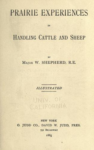 Download Prairie experiences in handling cattle and sheep