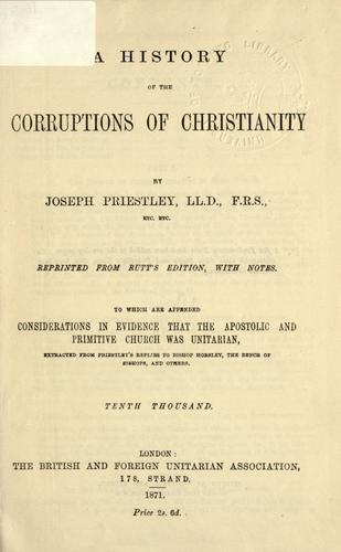 Download A history of the corruptions of Christianity