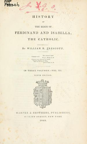 Download History of the reign of Ferdinand and Isabella, the Catholic.