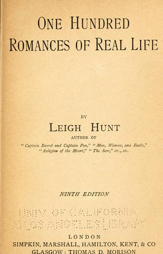 Download One hundred romances of real life.