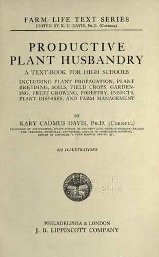 Download Productive plant husbandry