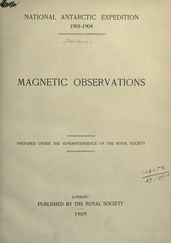 Download Magnetic observations.