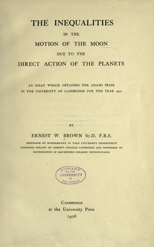 The inequalities in the motion of the moon due to the direct action of the planets.