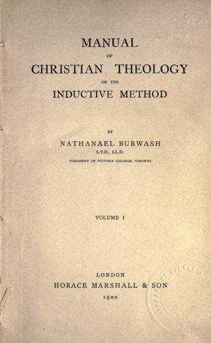 Manual of Christian theology on the inductive method