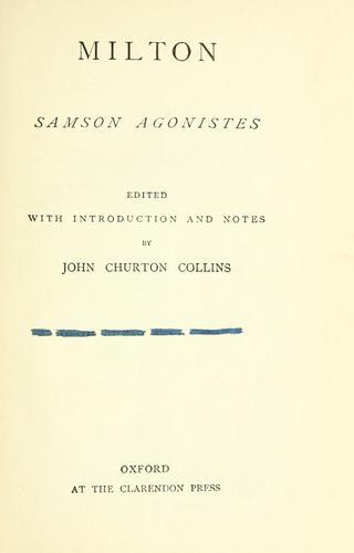 Samson Agonistes.