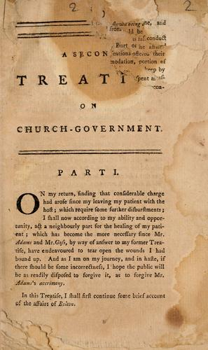 A  second treatise on church-government
