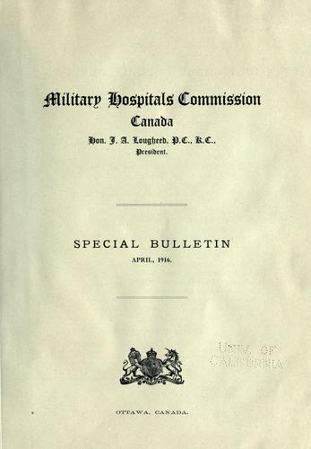 Download Special bulletin, April 1916.