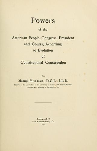 Download Powers of the American people, Congress, President and courts