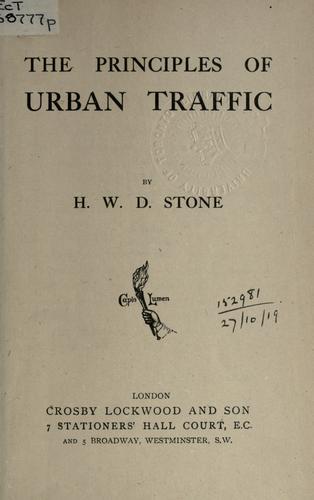 The principles of urban traffic.