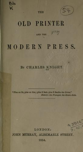 Download The old printer and the modern press.