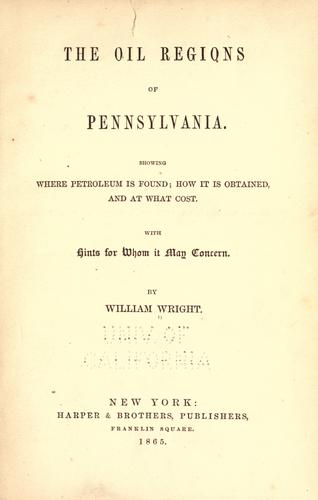 Download The oil regions of Pennsylvania