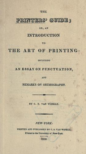 The printers' guide, or, An introduction to the art of printing