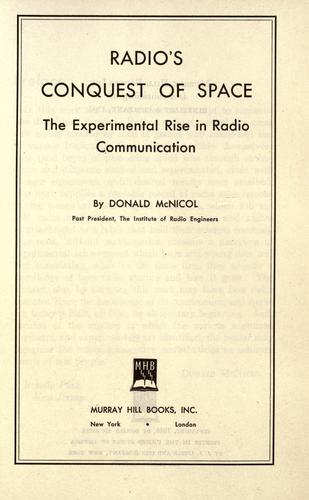 Radio's conquest of space.
