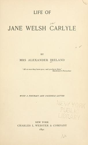 Download Life of Jane Welsh Carlyle.