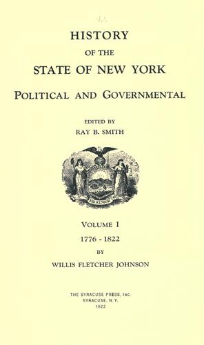 Download History of the state of New York, political and governmental