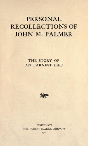 Download Personal recollections of John M. Palmer