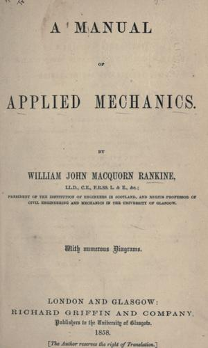 A manual of applied mechanics.