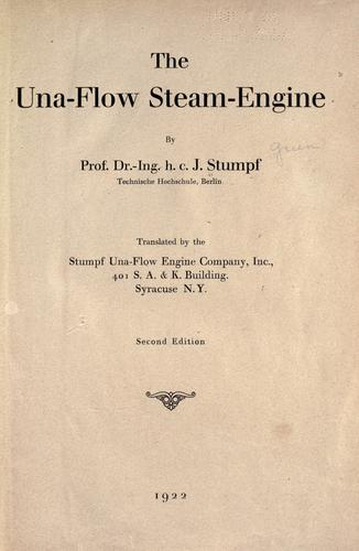 The una-flow steam-engine