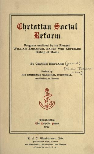 Download Christian social reform