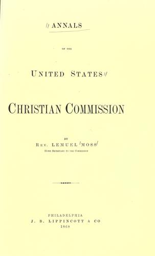 Download Annals of the United States Christian commission