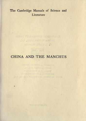 Download China and the Manchus.