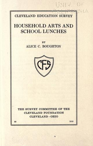 Household arts and school lunches