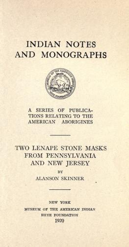 Download Two Lenape stone masks from Pennsylvania and New Jersey