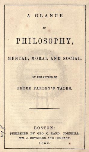 A glance at philosophy, mental, moral, and social