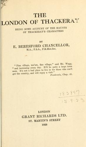 The London of Thackeray