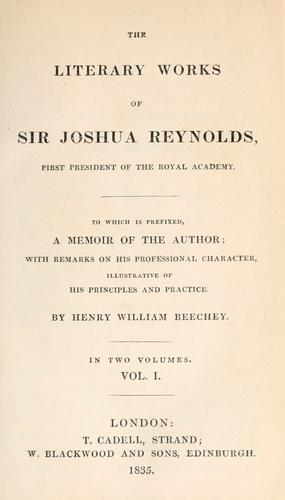 Download The literary works of Sir Joshua Reynolds …